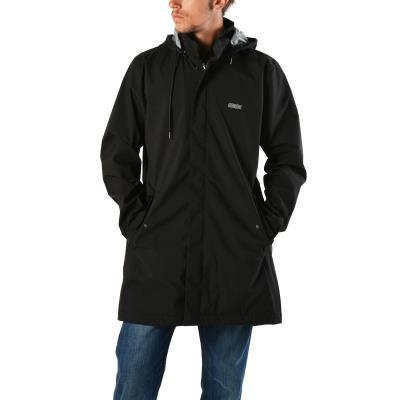 Emerson Men s Raincoat with Det ble Hood 182.EM10.95-109 - PL BLACK a0c88b46900