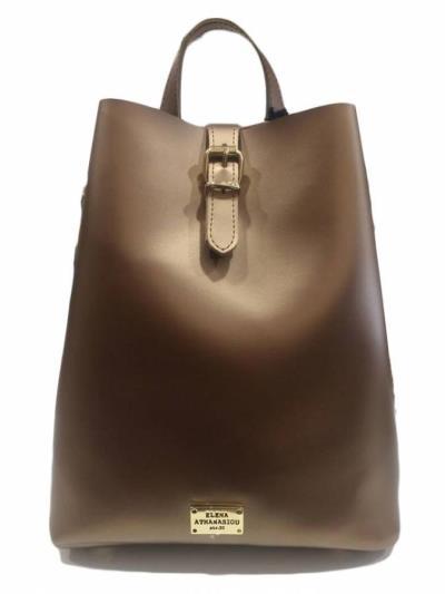 0d7da4b712 Elena Athanasiou - Recycled Backpack Bronze -