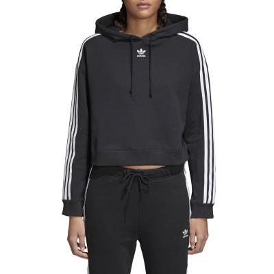 check out c0ed5 0a7e4 adidas Originals Cropped Hoodie CY4766 - BLACK