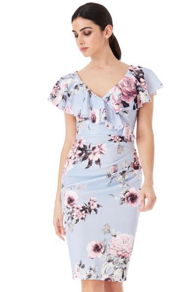 62bf050a7327 chic cocktail φόρεμα frill penelope floral
