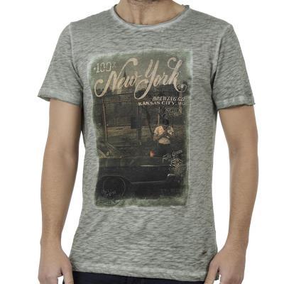 4ad93b50d3fe Ανδρικό Κοντομάνικη Μπλούζα T-Shirt DAMAGED D13 Pesto
