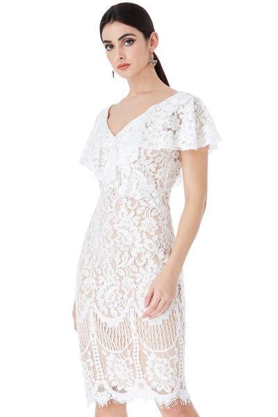 0da54bdeadb9 sophisticated frill fine φόρεμα chantilly lace Karen white