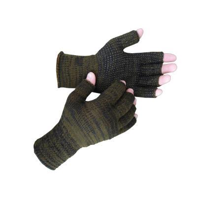 Γάντια πλεκτά κομμένα δάχτυλα και pvc Χακί 106 7e7d45b638d