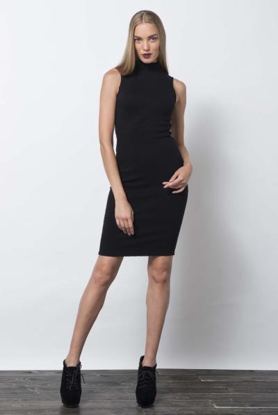 464ac9079d8f Φόρεμα ζιβάγκο αμάνικο ελαστικό μπροκάρ - 16527