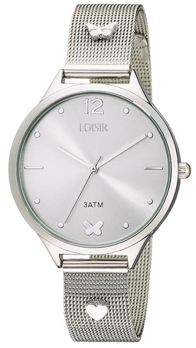 Loisir Rockheart Silver Mesh Bracelet 11L03-00315 7a4252a77ef