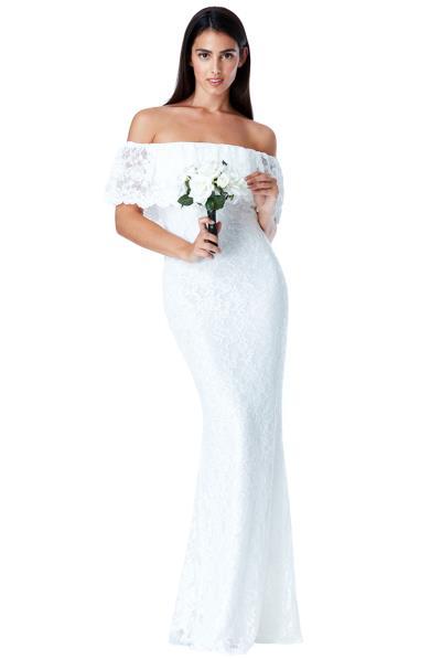 92b785da3d8 bridal bohemian lace off shoulder φόρεμα