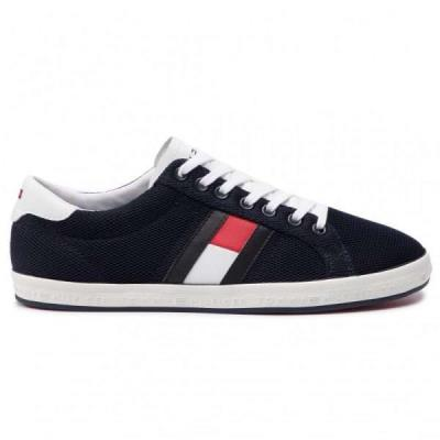 8d8ec7e3bb Tommy Hilfiger Essential Flag Detail Μπλε Ανδρικά Sneakers FM0FM02202  Midnight 4