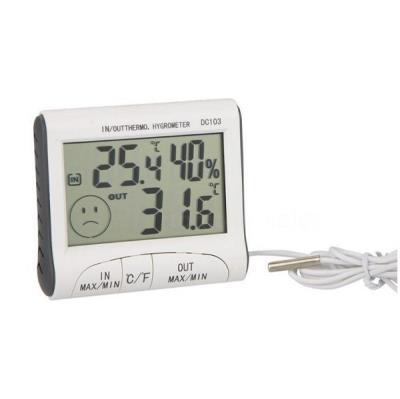 Υγρασιόμετρο Ψηφιακό Εσωτερικού – Εξωτερικού Χώρου HUM-DC103 b34fa972726