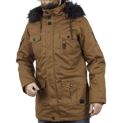 Ανδρικό Μακρύ Μπουφάν Parka Jacket με Κουκούλα SPLENDID 40-201-097 Camel dbb93064dda