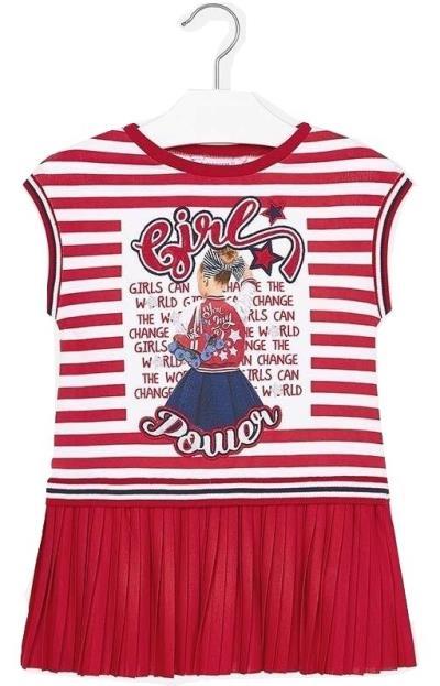 045da2301b9 Mayoral 29-03949-090 Φόρεμα πλισέ συνδυασμένο κορίτσι 3949 Κόκκινο Mayoral