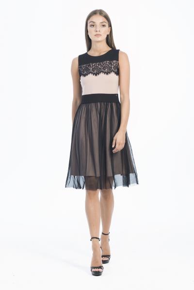Φόρεμα αμάνικο φούστα τούλι - 18549 021f0df6149