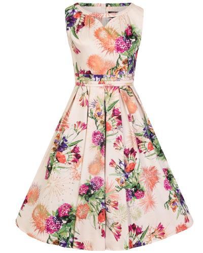 487c0172d2dc vintage φόρεμα multi floral retro Heaven