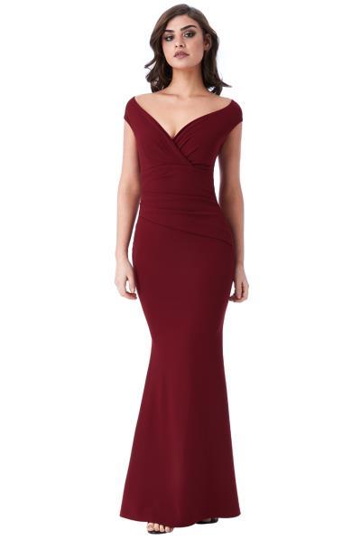 b345458b1423 empiral minimal βραδινό maxi φόρεμα σε μπορντώ wine