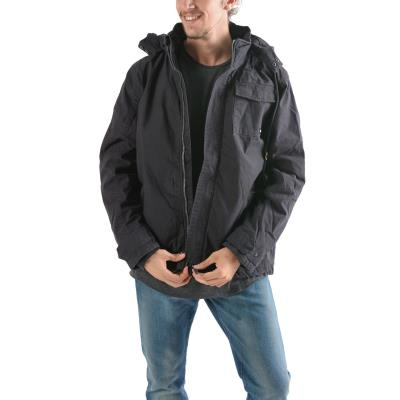 Emerson Men s Washed Jacket With Det ble Hood 182.EM12.154-033 - CT EBONY 0168c16c627
