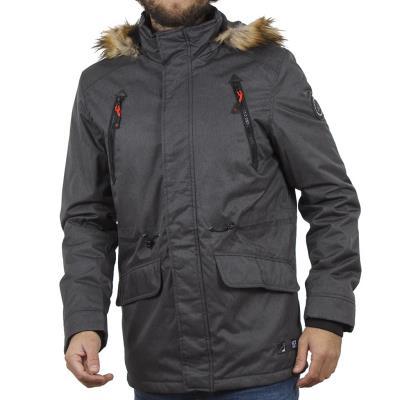 Ανδρικό Μακρύ Μπουφάν Parka Jacket με Κουκούλα ICE TECH G629 σκούρο Γκρι 138a479c08a