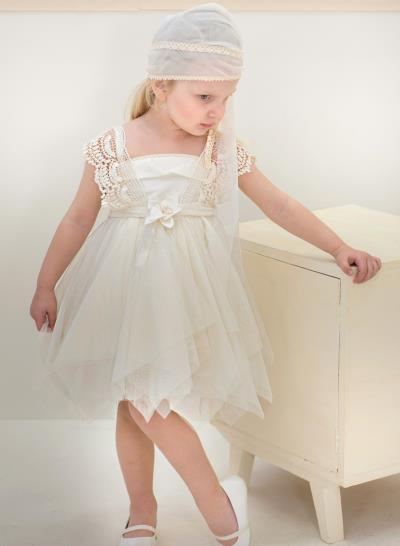 e5ed2f55f19 Φόρεμα Βάπτισης Από Μαλακό Τούλι Και Δαντέλα Κωδ:11974