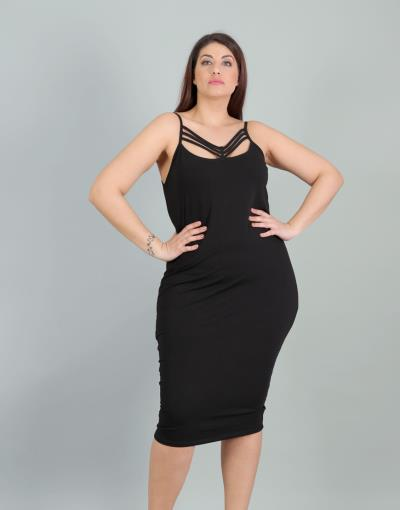 6ff8e0b8cb2 φόρεμα xl μαυρο plus - Totos.gr