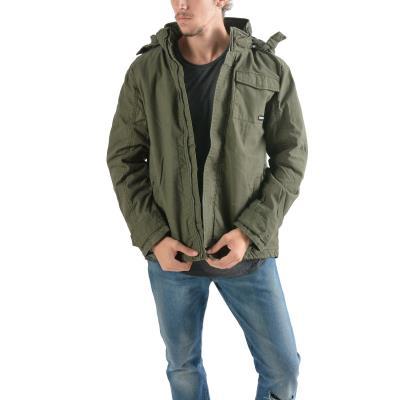 Emerson Men s Washed Jacket With Det ble Hood 182.EM12.154-035 - CT OLIVE 632d3557938