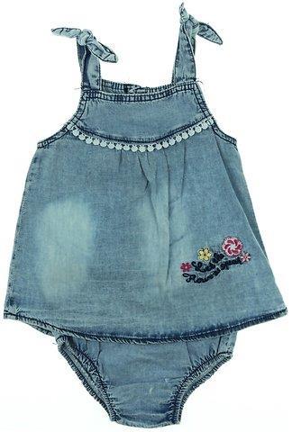 1a151e346a2b Oryeda βρεφικό σετ φόρεμα-βρακάκι τζιν «Little Flower»