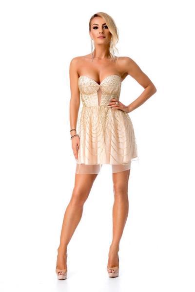 26f52acf0d45 9325 RO Εντυπωσιακό μίνι φόρεμα με στρας - Χρυσό