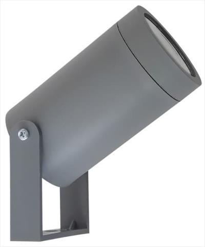 Φωτιστικό σπότ πλαστικό στεγανό ip44 μονής κατεύθυνσης γκρί με βάση   ντουί  gu10 9c9e856d354