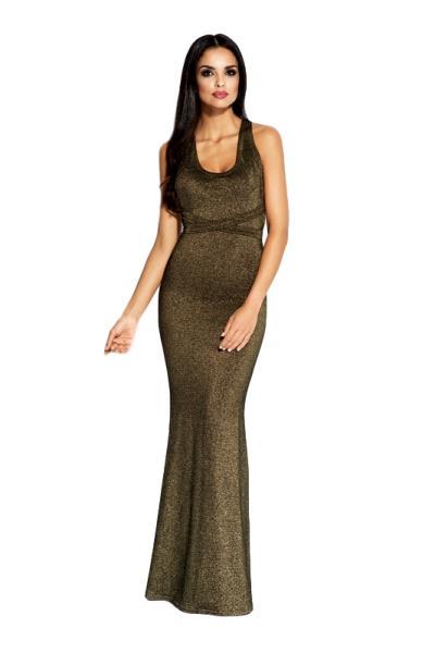 ea51af9bc33e 60036 DR Μάξι μεταλιζέ φόρεμα με ανοιχτή πλάτη - Χρυσό