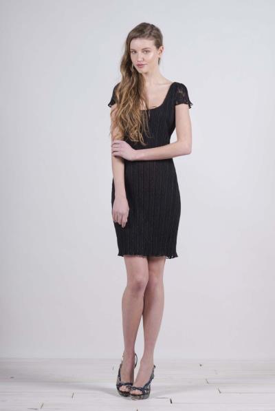 19d1c2e7c737 Φόρεμα κ.μ. δαντέλα πλισέ - 17142