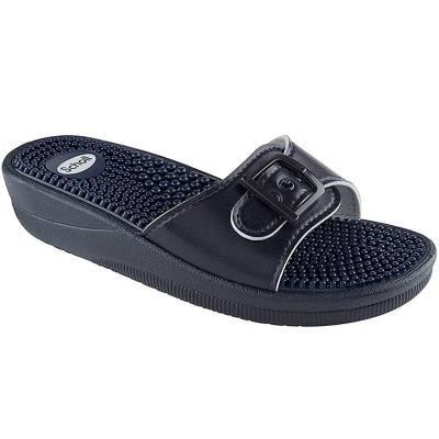 52d7c825b33 Dr Scholl Shoes New Massage Navy Blue Γυναικεία Ανατομικά Παπούτσια  Χαρίζουν Σωσ
