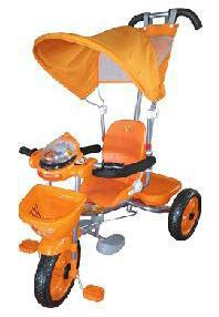 2199660c95a Παιδικό τρίκυκλο ποδήλατο πορτοκαλί με μπάρα καθοδήγησης και τέντα TR3400SP