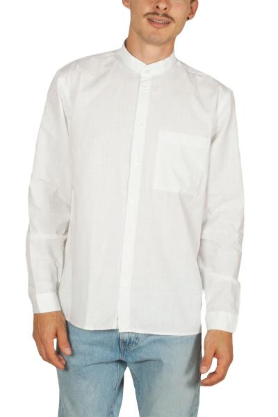 Minimum Ishak ανδρικό Μάο πουκάμισο λευκό - 161572068-wh ee44a36a8fb