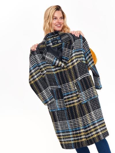 ce0fcb08b148 TOP SECRET top secret γυναικειο καρο παλτο