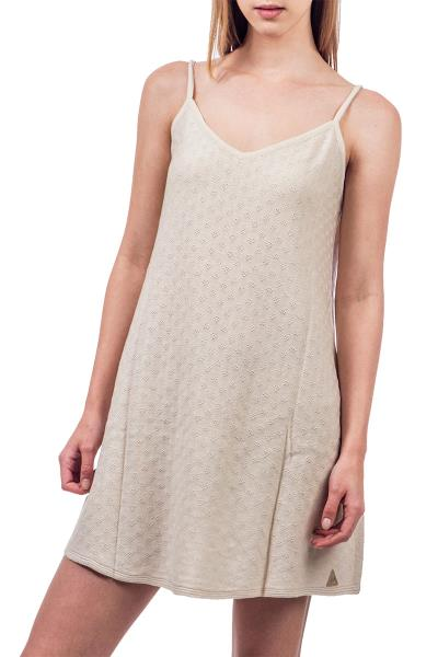 e6c54663fbf4 Agel Knitwear πλεκτό φόρεμα μπεζ με τιράντες - s16646-bei