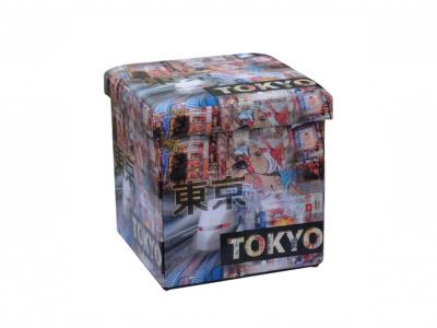 45ac4236fee Homa 267 Σκαμπό Πτυσσόμενο με Αποθηκευτικό Χώρο με θέμα Tokyo 38x38x38cm -  Homa