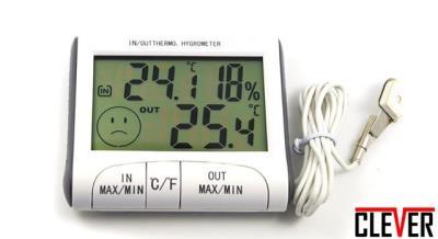 Ψηφιακό θερμόμετρο - υγρασιόμετρο με εξωτερικό αισθητήρα 2e9d50802c6