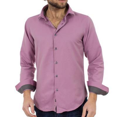 893f07c27204 Ανδρικό Μακρυμάνικο Πουκάμισο Slim Fit CND Shirts 2700-5 Ροζ