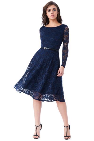 07a519a2cd04 timeless chic midi φόρεμα δαντέλα κλος σε μπλε navy. Άμεσα διαθέσιμο
