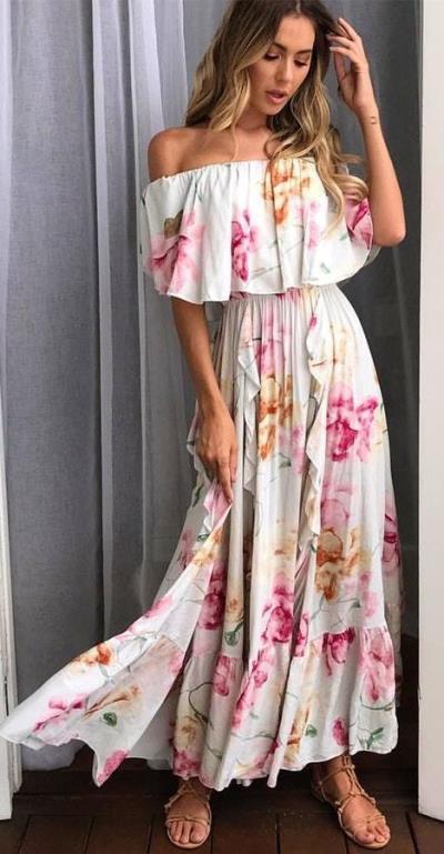 a24fdaefb0a0 romantic bohemian luxe φόρεμα delicate flower Selina
