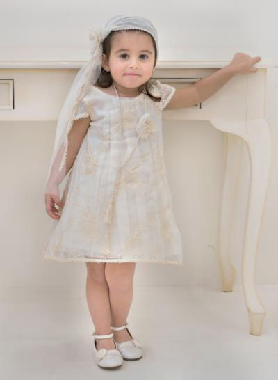 8cadf75e066e Φόρεμα Βάπτισης Babybloom Από Τούλι Με Δαντέλα Κωδ:11979