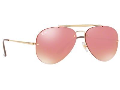 Γυαλιά ηλίου Ray-Ban Blaze Large Aviator RB 3584N 9052 E4 Χρυσό Ροζ  Καθρέφτης (9 747e64ddaa1