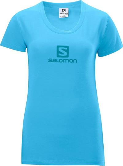 ca3fbb11a385 Γυναικεία αθλητική μπλούζα κοντομάνικη Salomon Polylogo Tee W Score Blue  Μπλε Sa