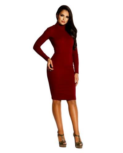 ebab3383bf79 60040 DR Ελαστικό βισκόζ μίντι φόρεμα με ανοιχτή πλάτη - Μπορντώ