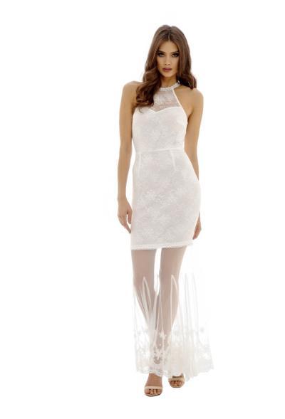 65cba7f617b3 white romance boho bridal maxi φόρεμα δαντέλα. Άμεσα διαθέσιμο