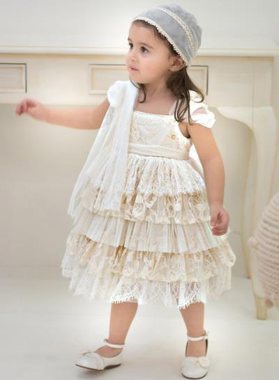 1bf958efcf7 Φόρεμα Βάπτισης Μεσάτο Από Δαντέλα Και Τούλι Κωδ:11997