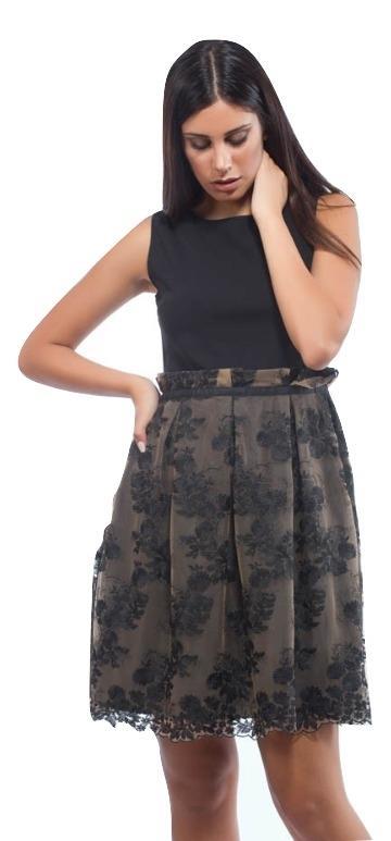 Φόρεμα Αμάνικο με Τούλι Κέντημα Μαύρο Freestyle 6a628880a7a