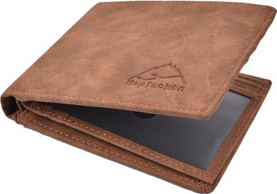 9e2861bfc7 Δερμάτινο Αντρικό Πορτοφόλι Hopsooken Mens Wallet RFID Blocking Slim  Vintage Lea
