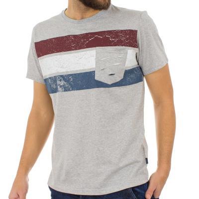 39565fa5e6a7 Ανδρικό Κοντομάνικη Μπλούζα T-shirt SANTANA SS18-1-46 Γκρι