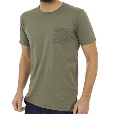 0d96156dc366 Ανδρικό Κοντομάνικη Μπλούζα T-Shirt BATTERY 211000581 Χακί