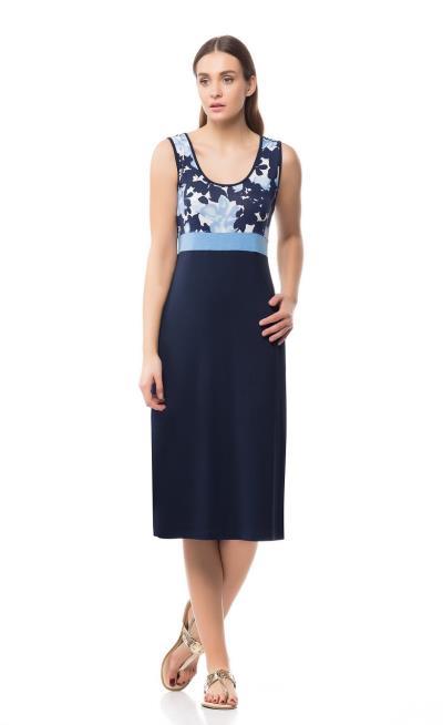 b905123b939b Φόρεμα γυναικών Γιώτα (1174) Μπλε Σκούρο 11744