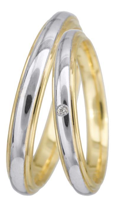 7ed1a008356f Βέρες γάμου δίχρωμες Κ14 BRS0938PD BRS0938PD Χρυσός 14 Καράτια μεμονωμένο  τεμάχ