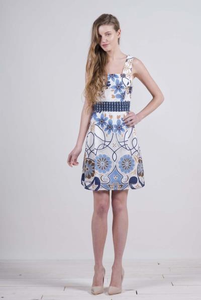 bebab4311a2a Φόρεμα ραντάκι εμπριμέ ζακάρ - 17154